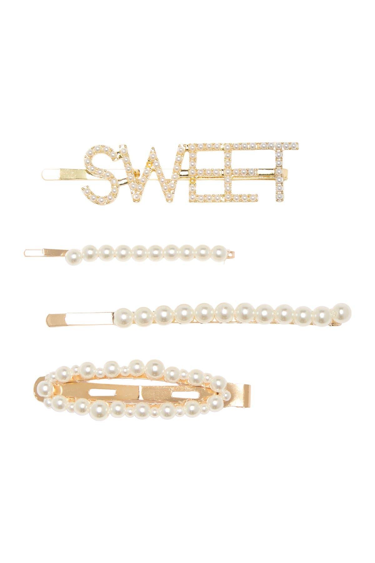 Image of BP. Sweet Peal Hair Clip Set - Pack of 4