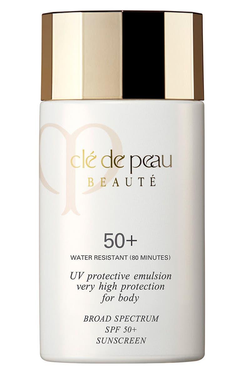 CLÉ DE PEAU BEAUTÉ UV Protective Emulsion Very High Protection for Body Broad Spectrum SPF 50+, Main, color, NO COLOR