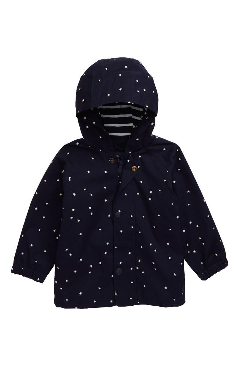 JOULES Coast Waterproof Hooded Raincoat, Main, color, 419