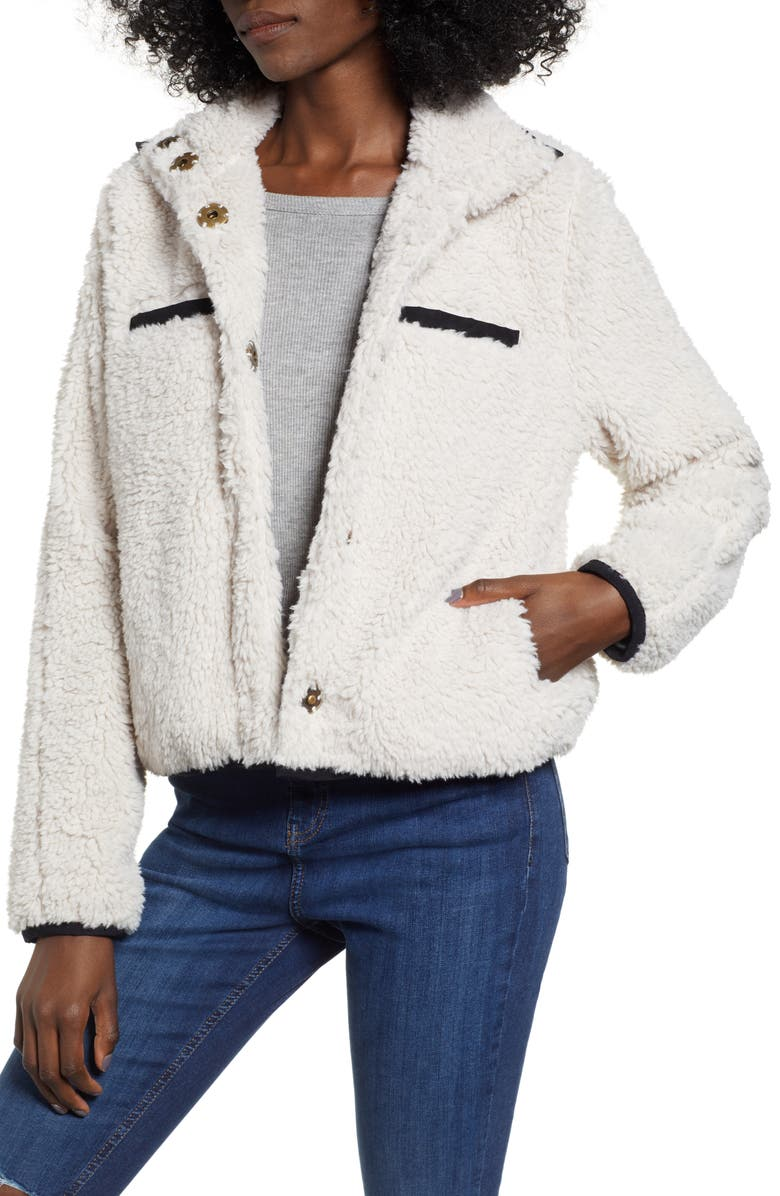 THREAD & SUPPLY Soho Faux Shearling Jacket, Main, color, 900