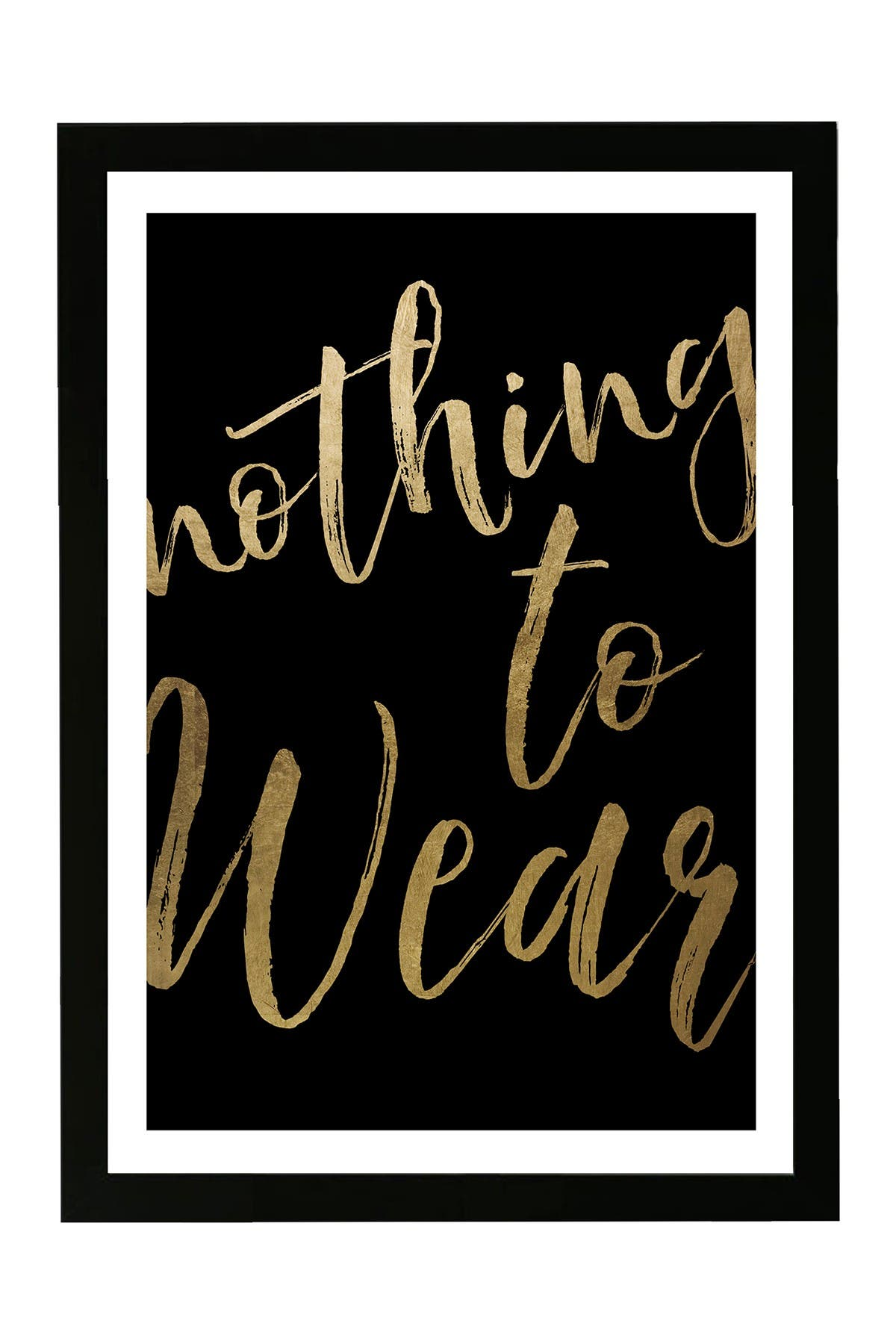 Wynwood Studio Nothing To Wear Gold Framed Wall Art at Nordstrom Rack
