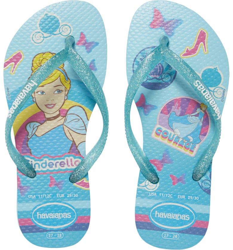 HAVAIANAS Disney Princess Flip Flop, Main, color, SKY BLUE