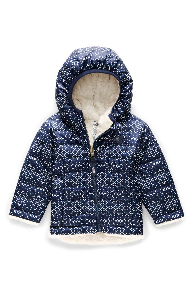 THE NORTH FACE Mossbud Swirl Reversible Water Repellent Heatseeker<sup>™</sup> Jacket, Main, color, 401