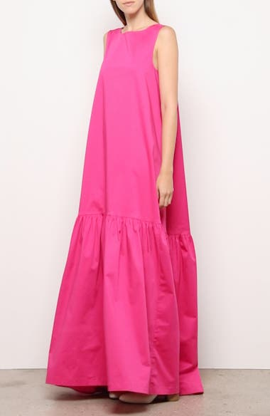 Sleeveless Low Back Stretch Cotton Gown, video thumbnail