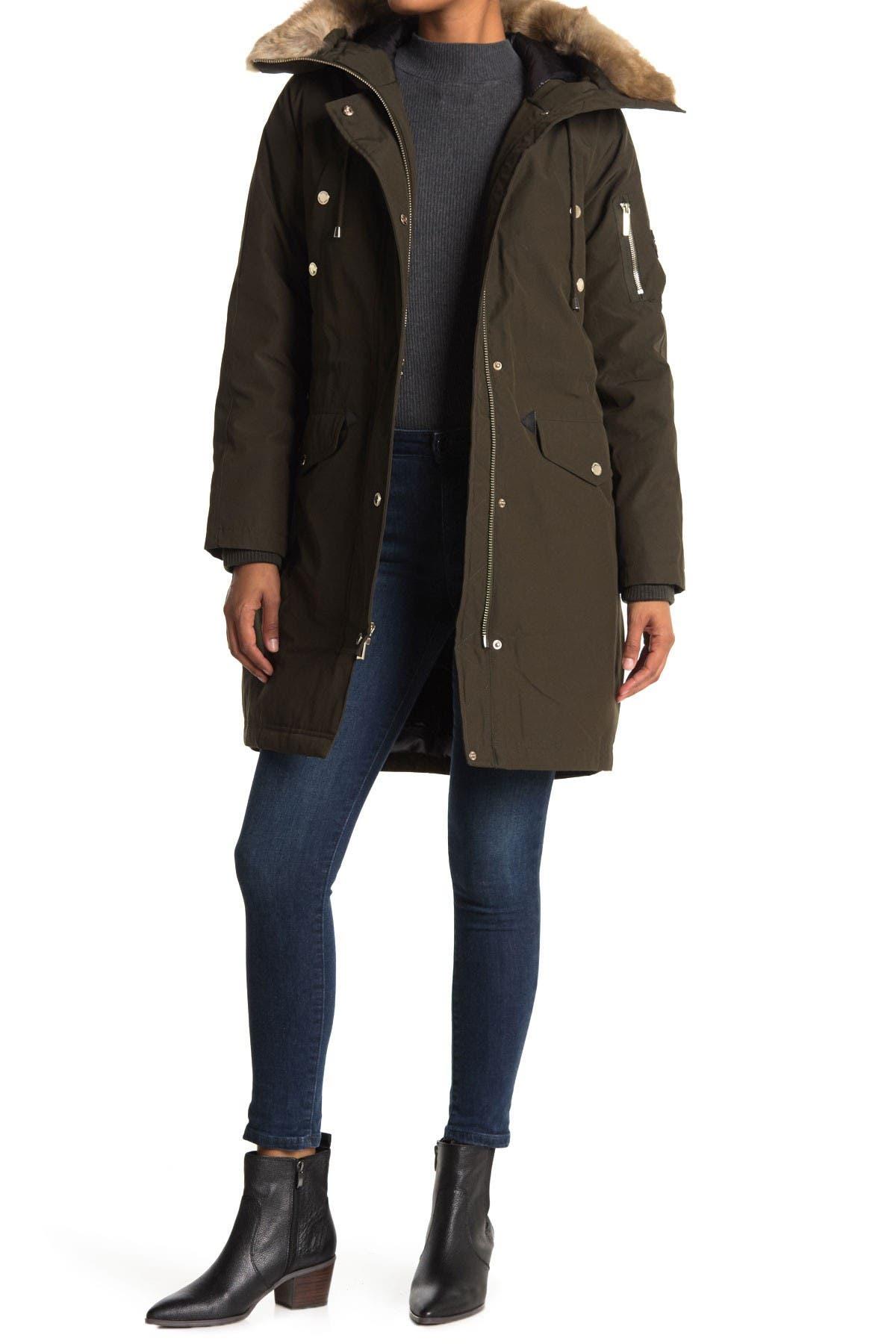 Image of Michael Kors Missy Faux Fur Down Fill Anorak