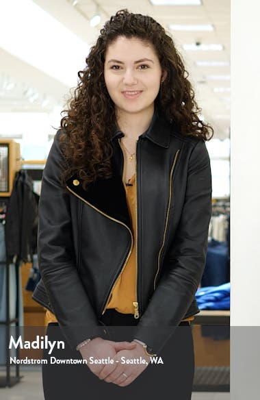 Washed Leather Trucker Jacket, sales video thumbnail