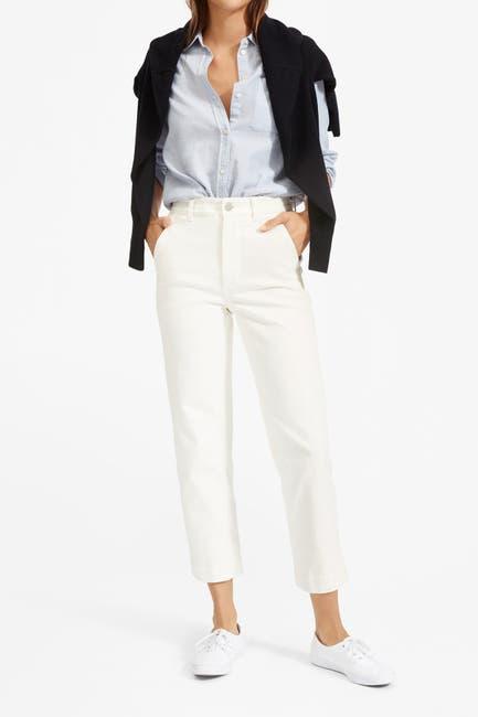 Image of EVERLANE The Lightweight Straight Leg Crop Chino Pants