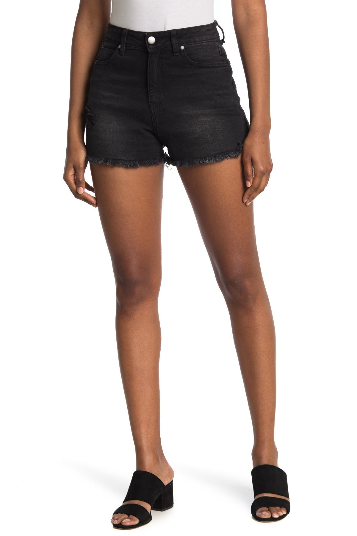 Image of Abound Frayed Hem Sustainable Denim Shorts