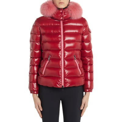 Moncler Badyfur Quilted Down Puffer Jacket With Removable Genuine Fox Fur Trim