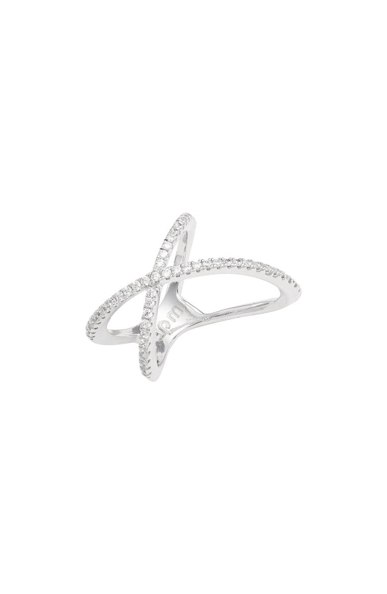 APM MONACO X-Shape Ring, Main, color, SILVER