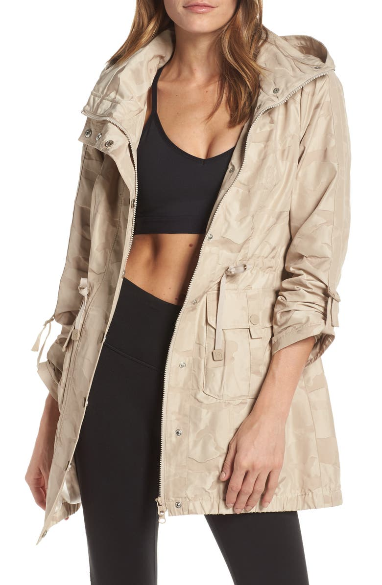BLANC NOIR Camo Hooded Anorak, Main, color, TAUPE