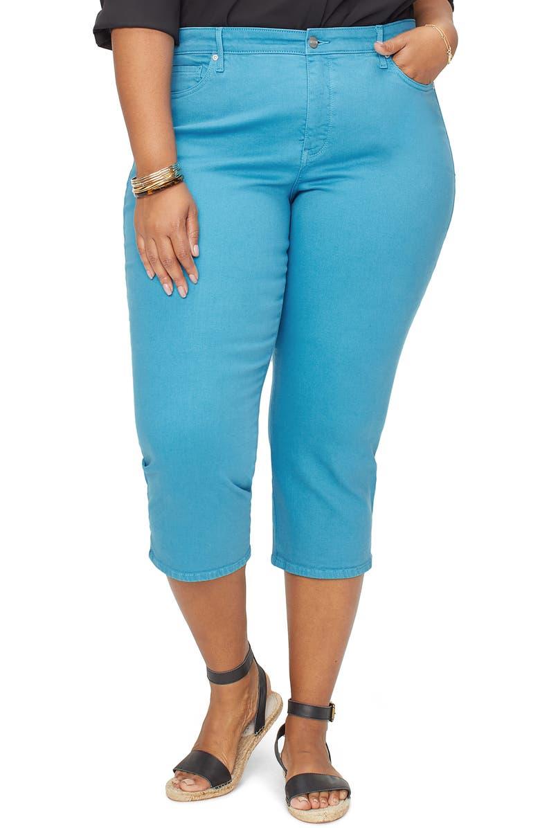 NYDJ Capri Skinny Jeans, Main, color, TURQUOISE TRAIL