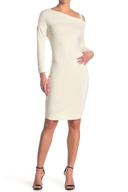 Image of MAX & ASH Single Strap Long Sleeve Midi Dress