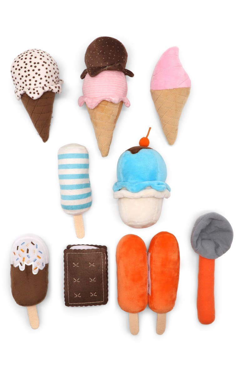 ASWEETS 9-Piece Ice Cream Play Food Set, Main, color, MULTI