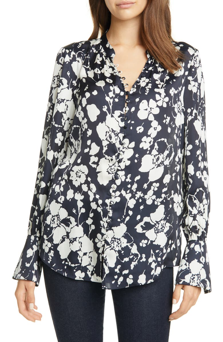 JOIE Tariana Floral Satin Blouse, Main, color, 410