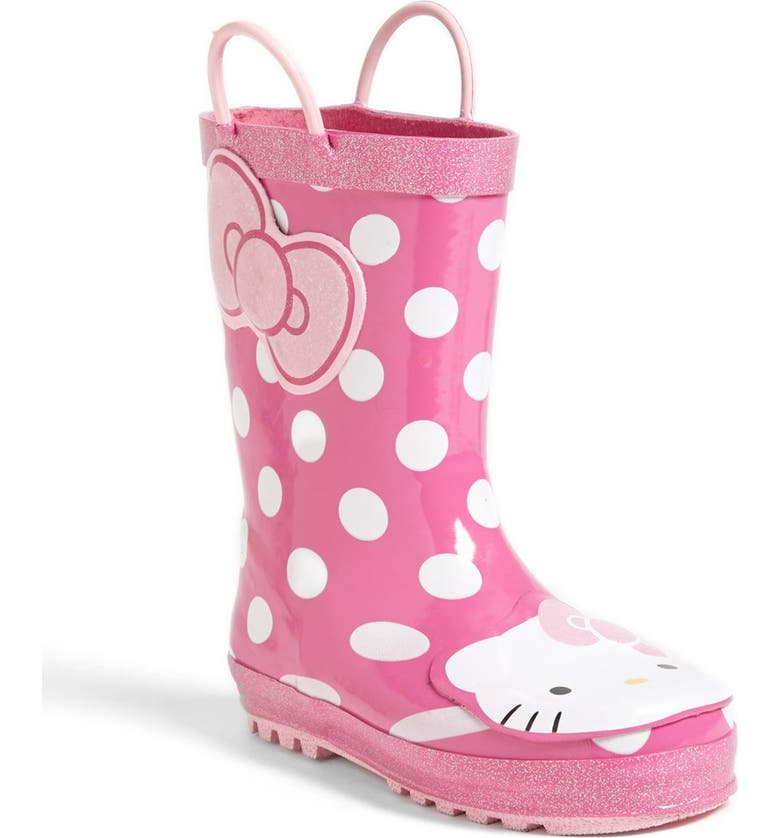 WESTERN CHIEF Hello Kitty<sup>®</sup> - Cutie Dot Waterproof Rain Boot, Main, color, 650