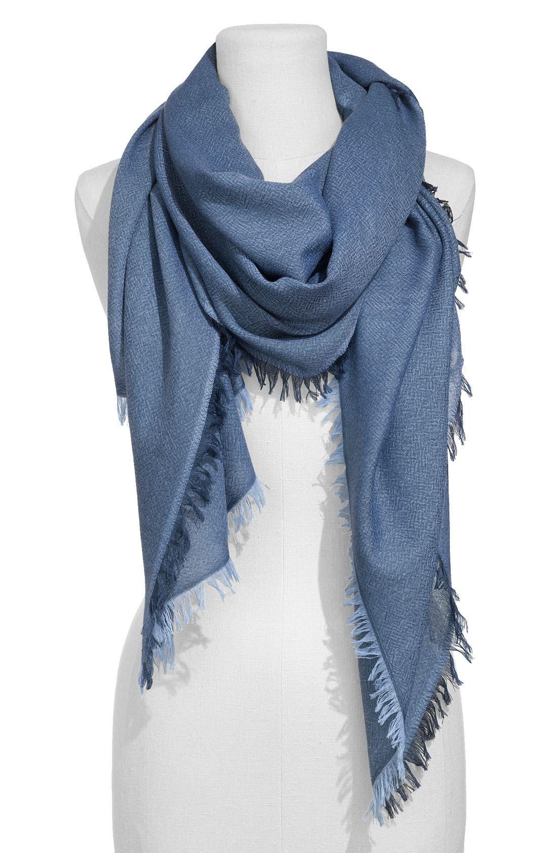,                             'Eyelash' Colorblock Cashmere Wrap,                             Main thumbnail 60, color,                             468