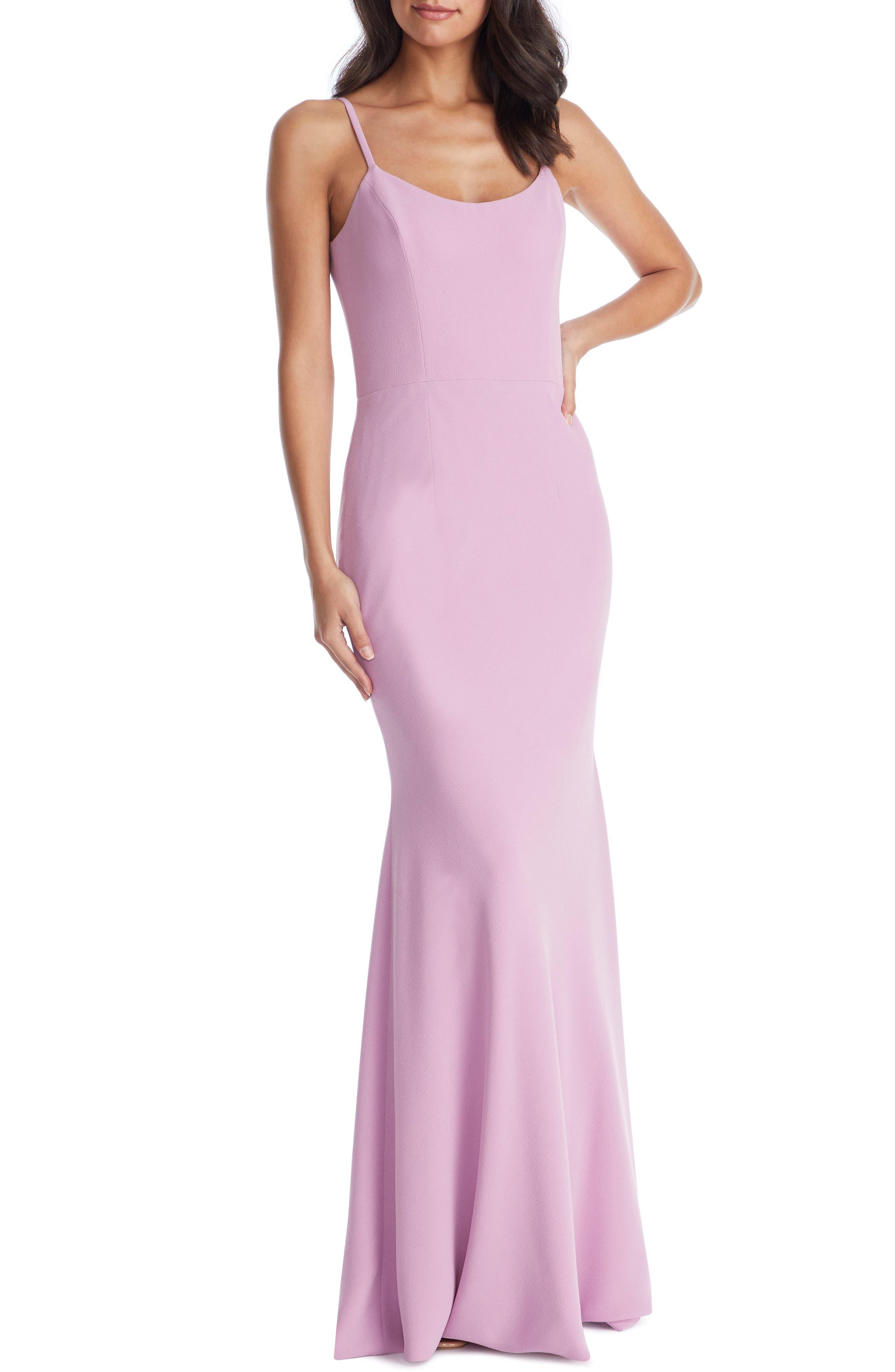 Dress The Population Jodi Crepe Evening Dress, Purple