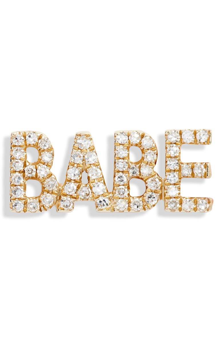EF COLLECTION Babe Diamond Stud Earring, Main, color, YELLOW GOLD