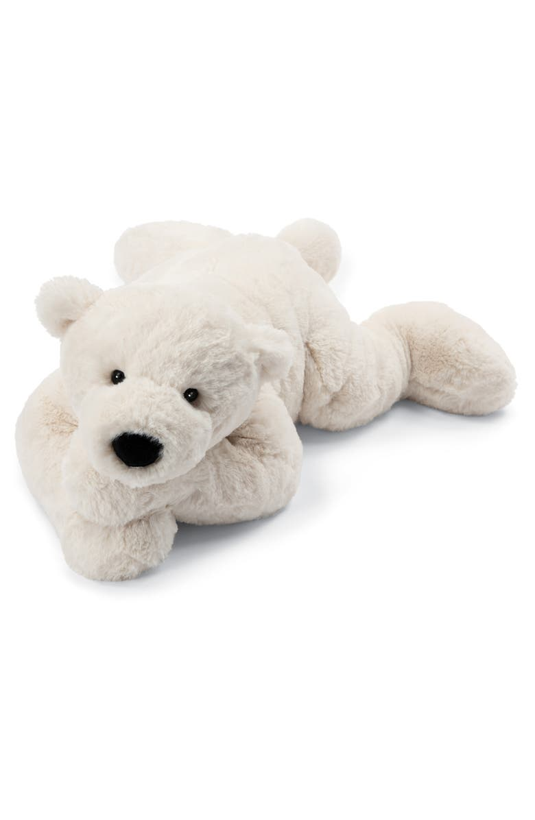 JELLYCAT Perry Polar Bear Stuffed Animal, Main, color, WHITE