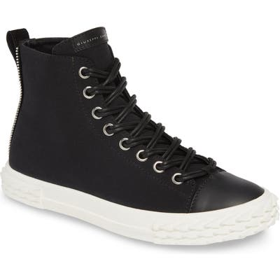 Giuseppe Zanotti Mid Top Double Lace Sneaker, Black