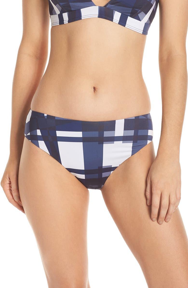 MEI L'ANGE Mei L'ange Mila Hipster Bikini Bottoms, Main, color, BLUE-WHITE MOSAIC
