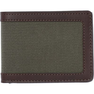 Filsone Outfitter Leather & Canvas Bifold Wallet - Green