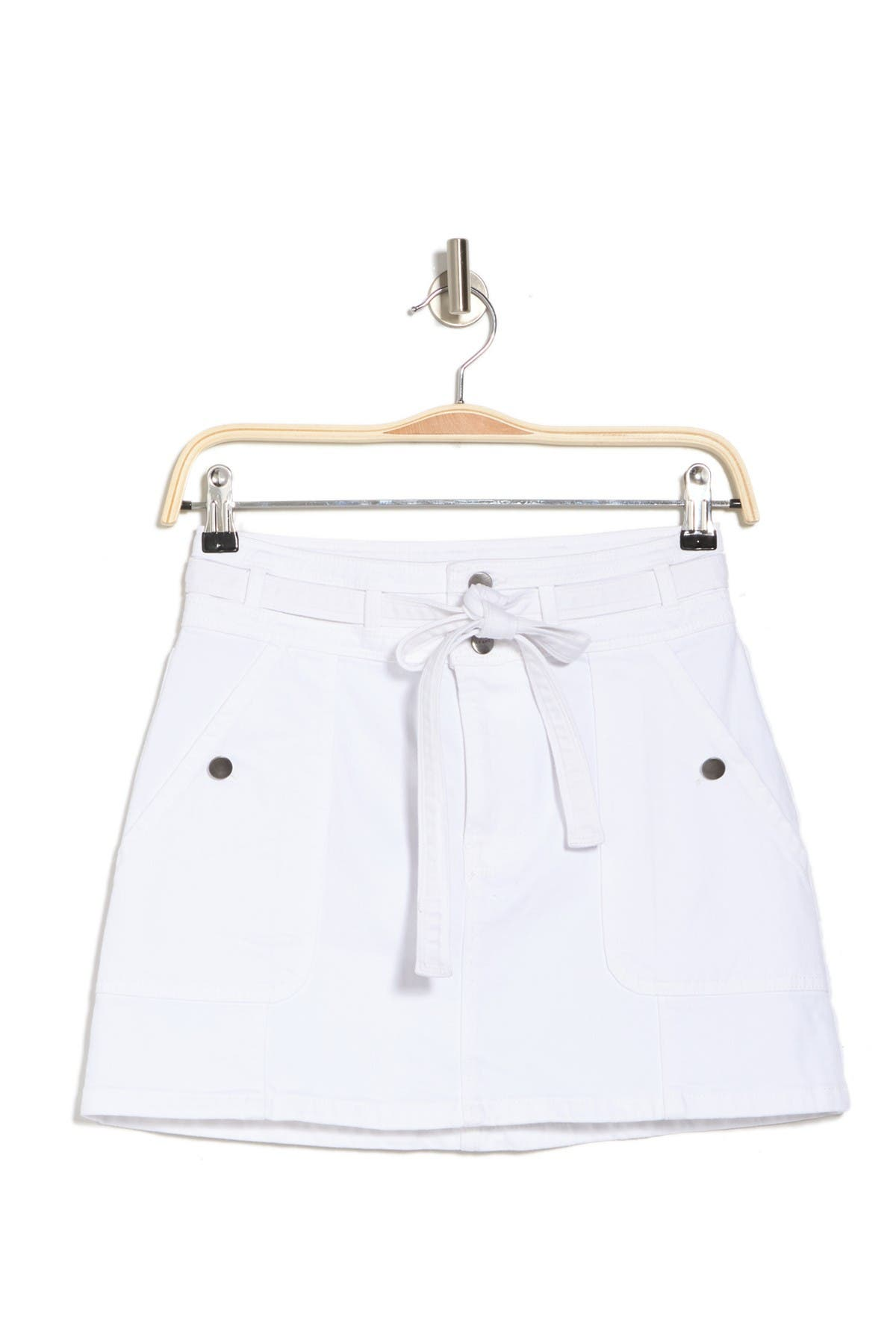 Image of FRAME Le Mini Front Tie Skirt