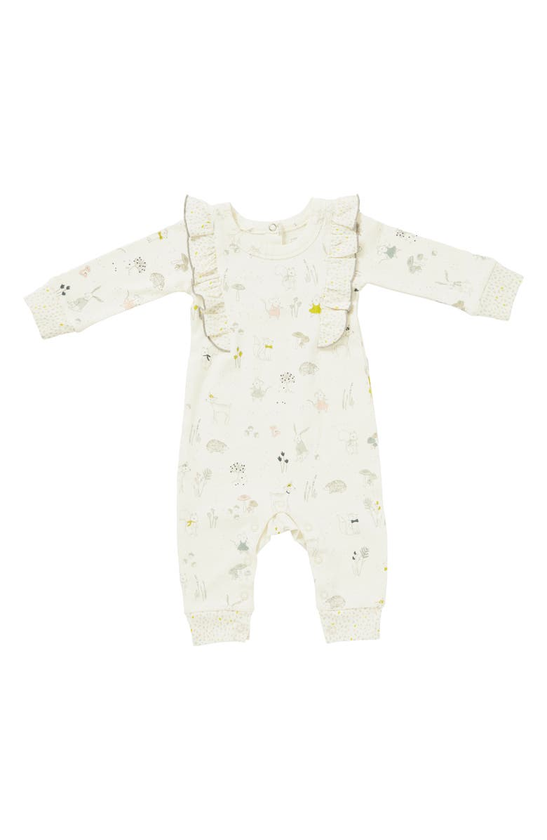 PEHR Magical Forest Organic Cotton Romper, Main, color, MULTI