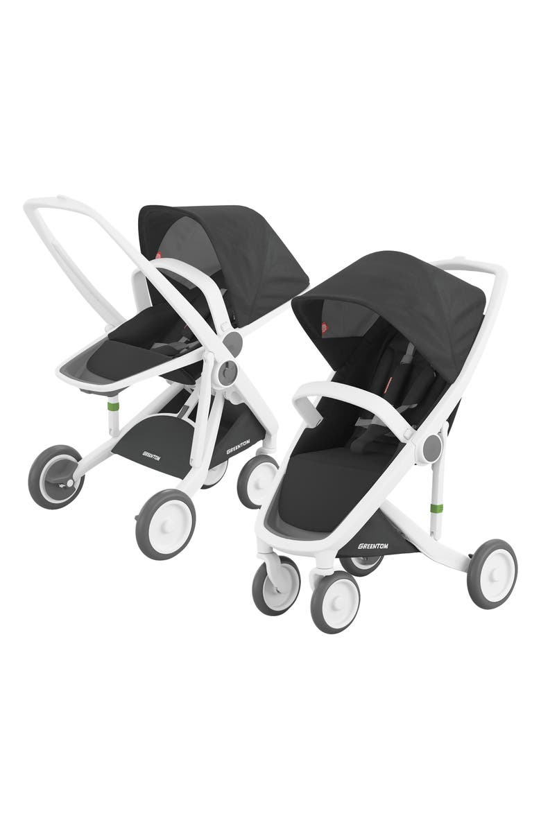 GREENTOM 2-in-1 Stroller with Reversible & Classic Seat Options, Main, color, BLACK/ WHITE FRAME