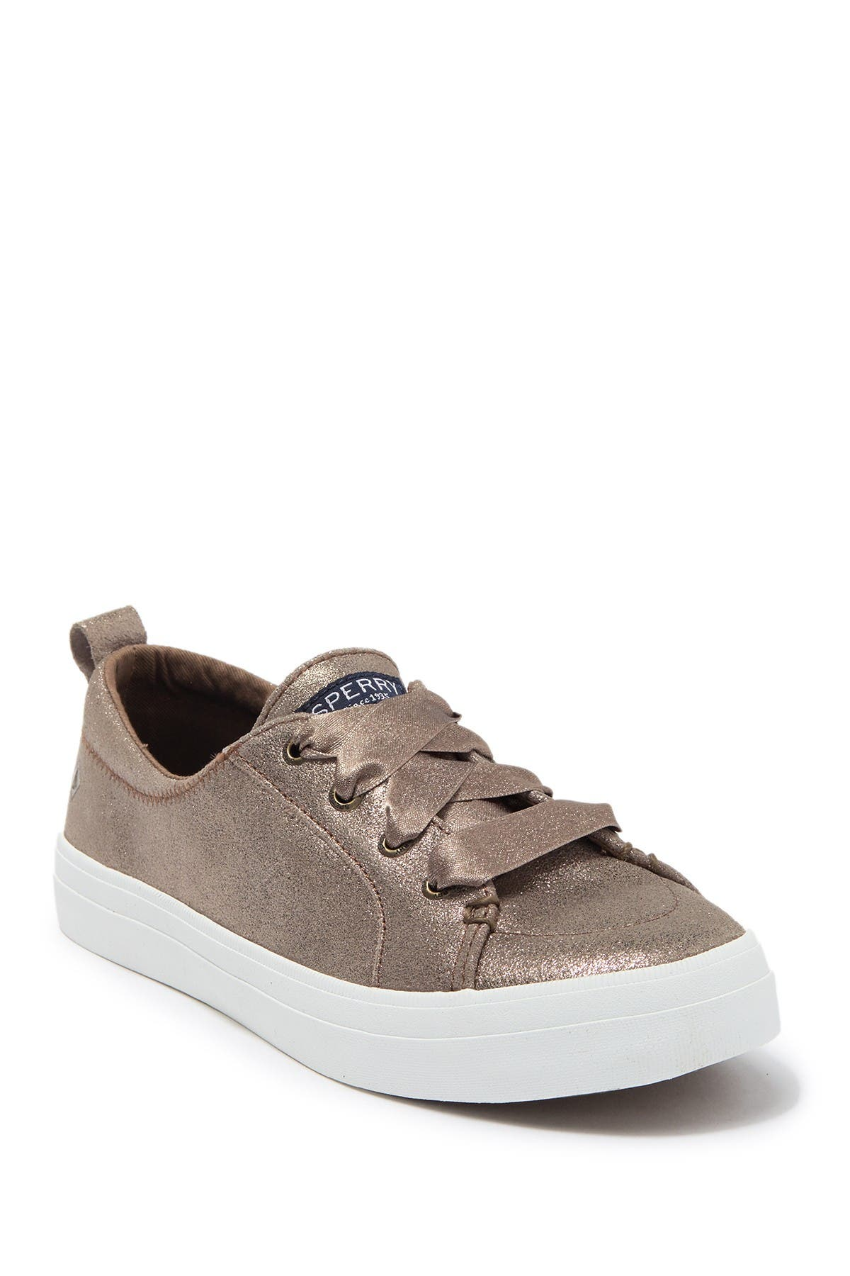 Image of Sperry Crest Vibe Glitter Suede Sneaker
