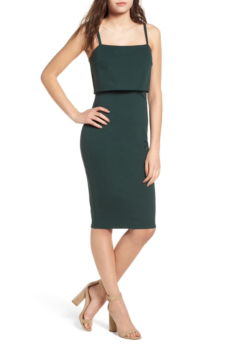 SOPRANO Popover Midi Body-Con Dress, Main, color, 300