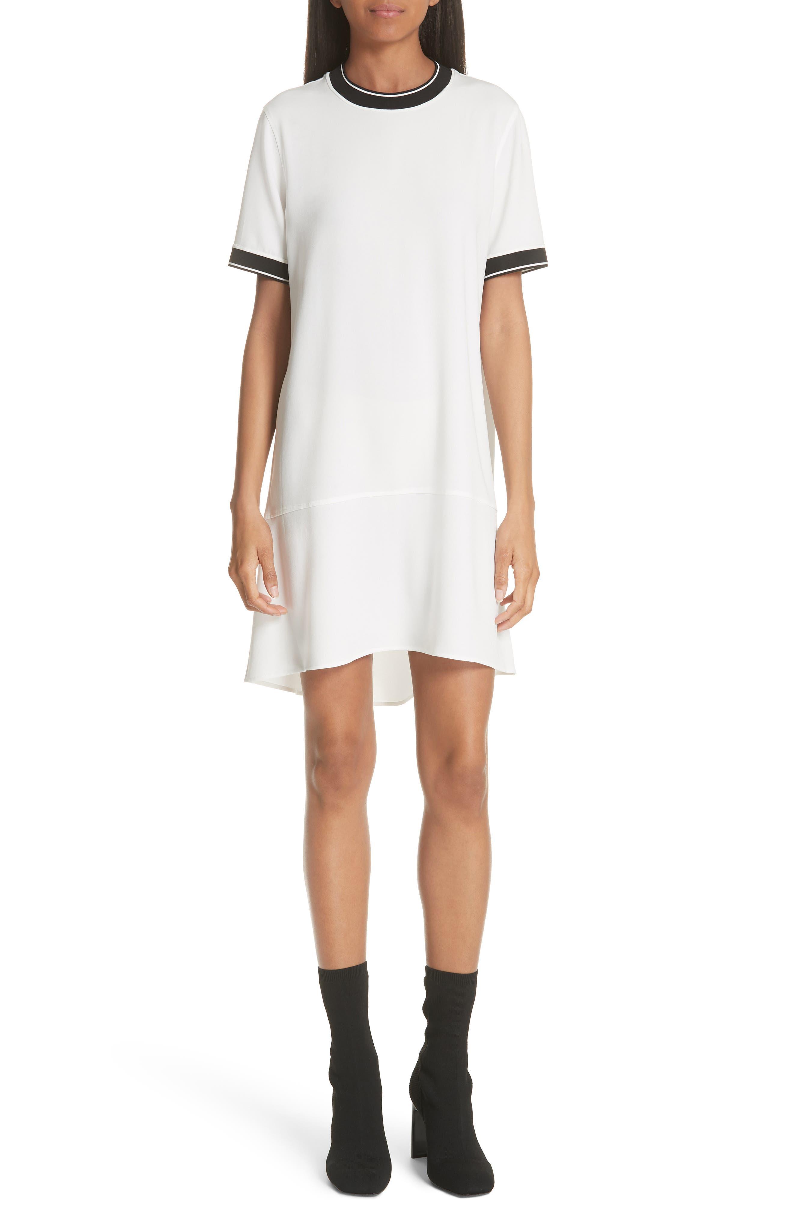Rag & Bone Thatch Crepe Shift Dress, White