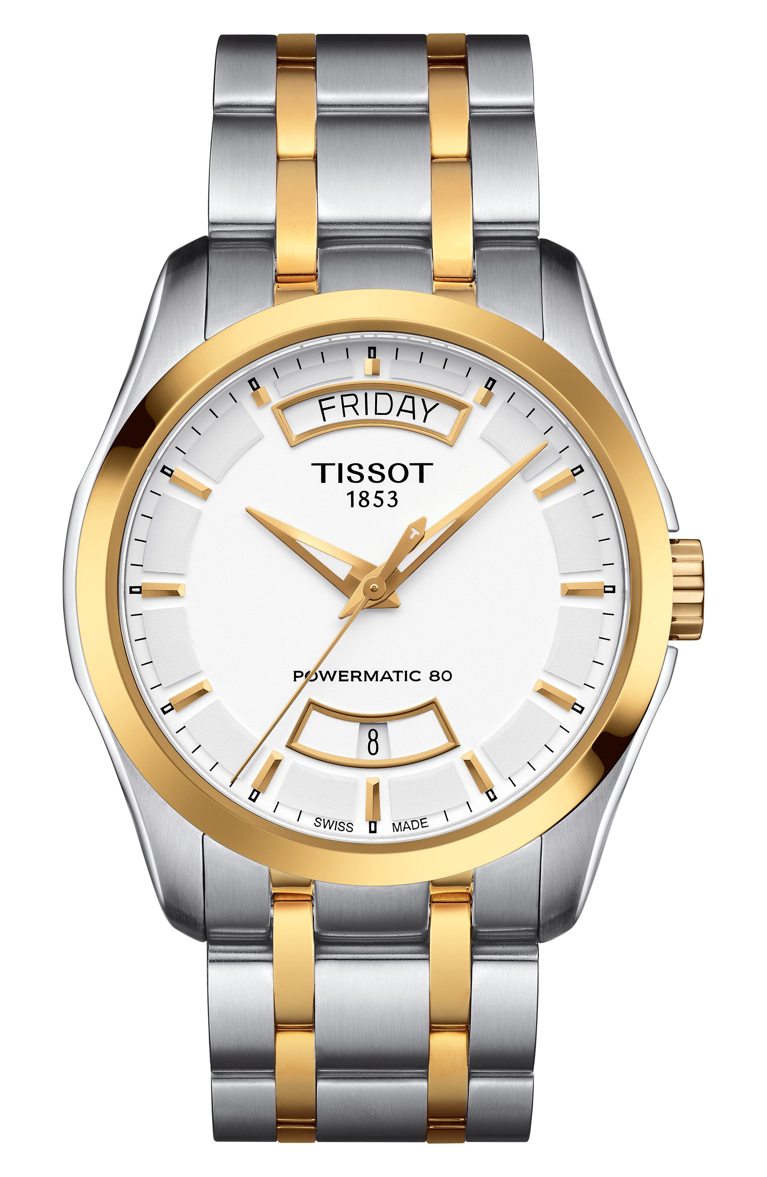 Image of Tissot Men's Tissot Couturier Powermatic 80 Watch, 39mm