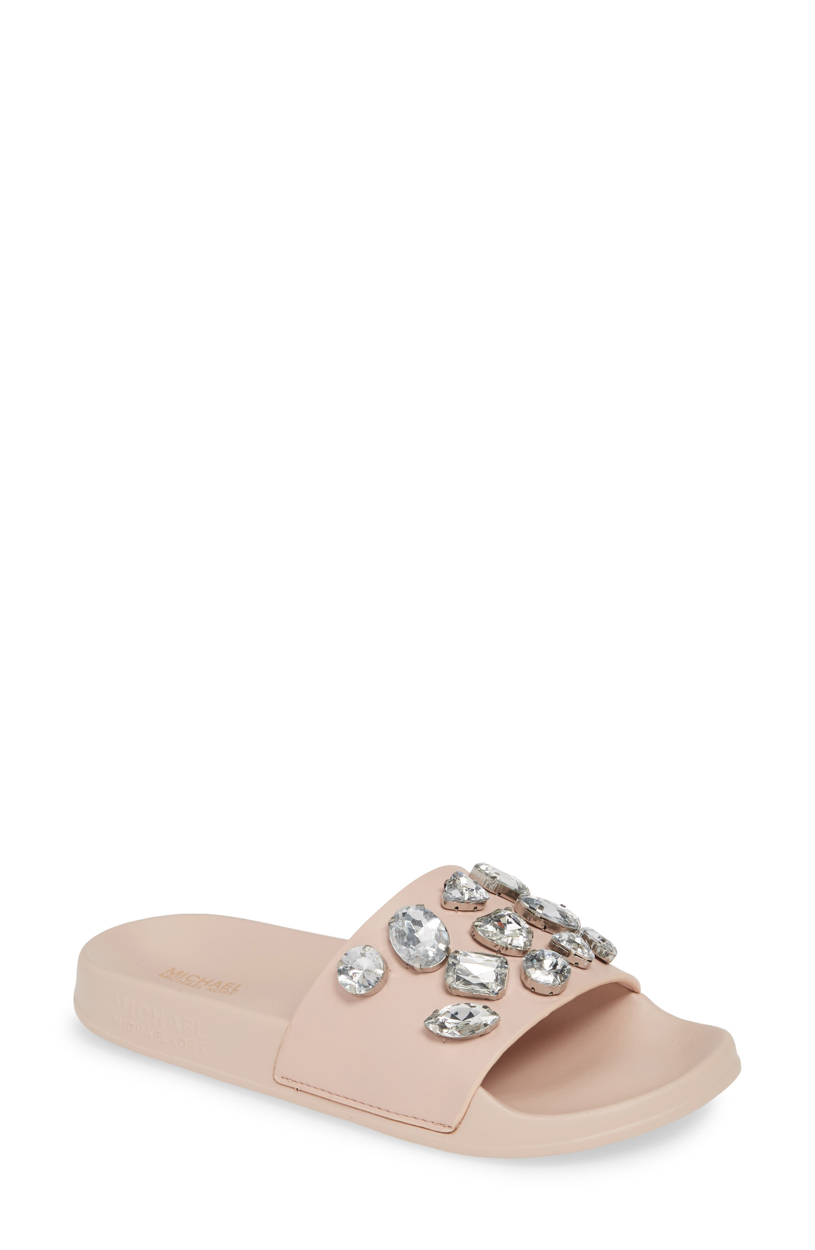 Michael Michael Kors Gilmore Slide Sandal, Pink