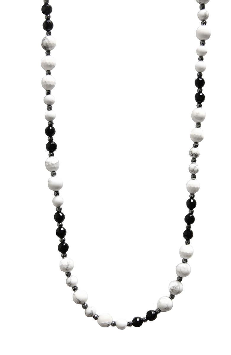 JANE BASCH DESIGNS Jane Basch Long Beaded Necklace, Main, color, HOWLITE/ HEMATITE