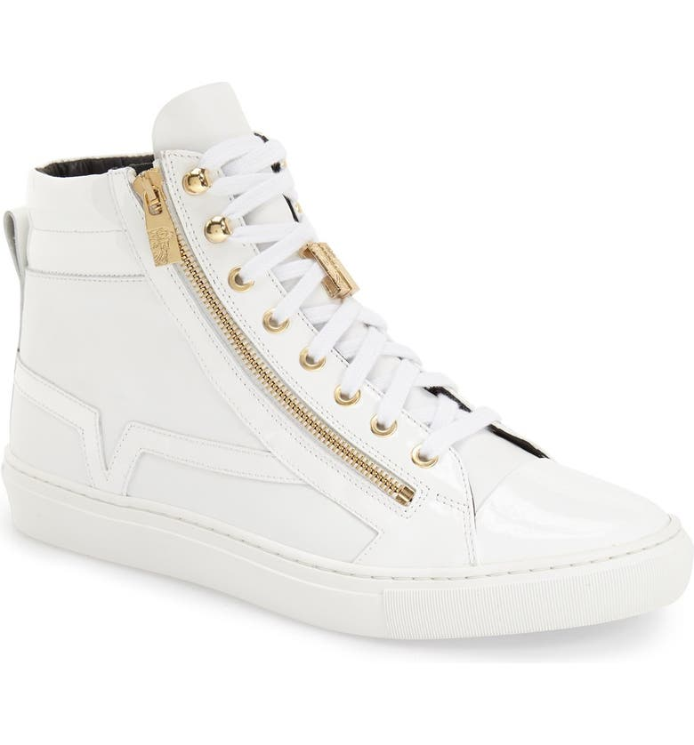 VERSACE COLLECTION High Top Sneaker, Main, color, 110