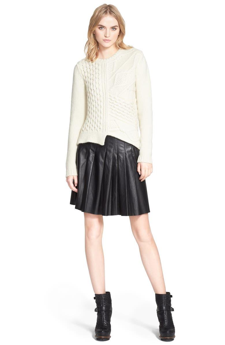 BELSTAFF 'Kenzie' Textured Wool & Mohair Sweater, Main, color, 900