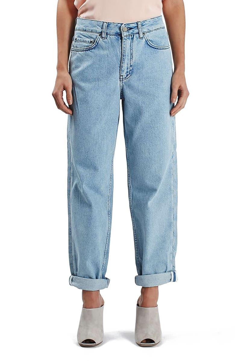 TOPSHOP BOUTIQUE Boyfriend Jeans, Main, color, 420