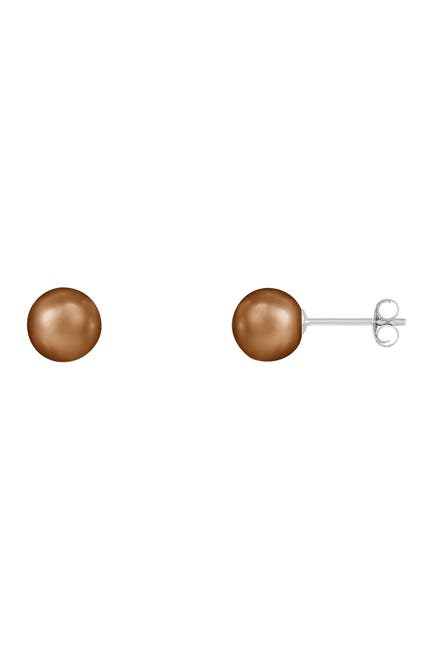 Image of Splendid Pearls Sterling Silver 6-7mm Freshwater Pearl Stud Earrings