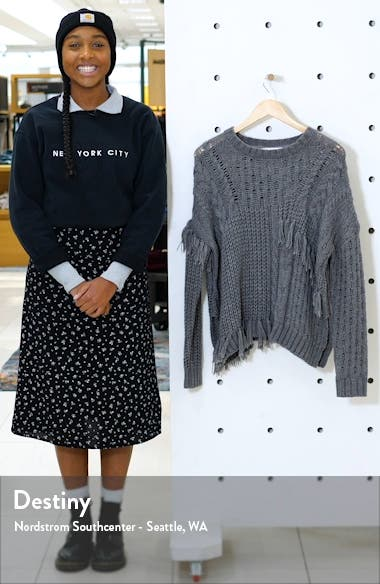 Romy Asymmetrical Cable Knit Sweater, sales video thumbnail