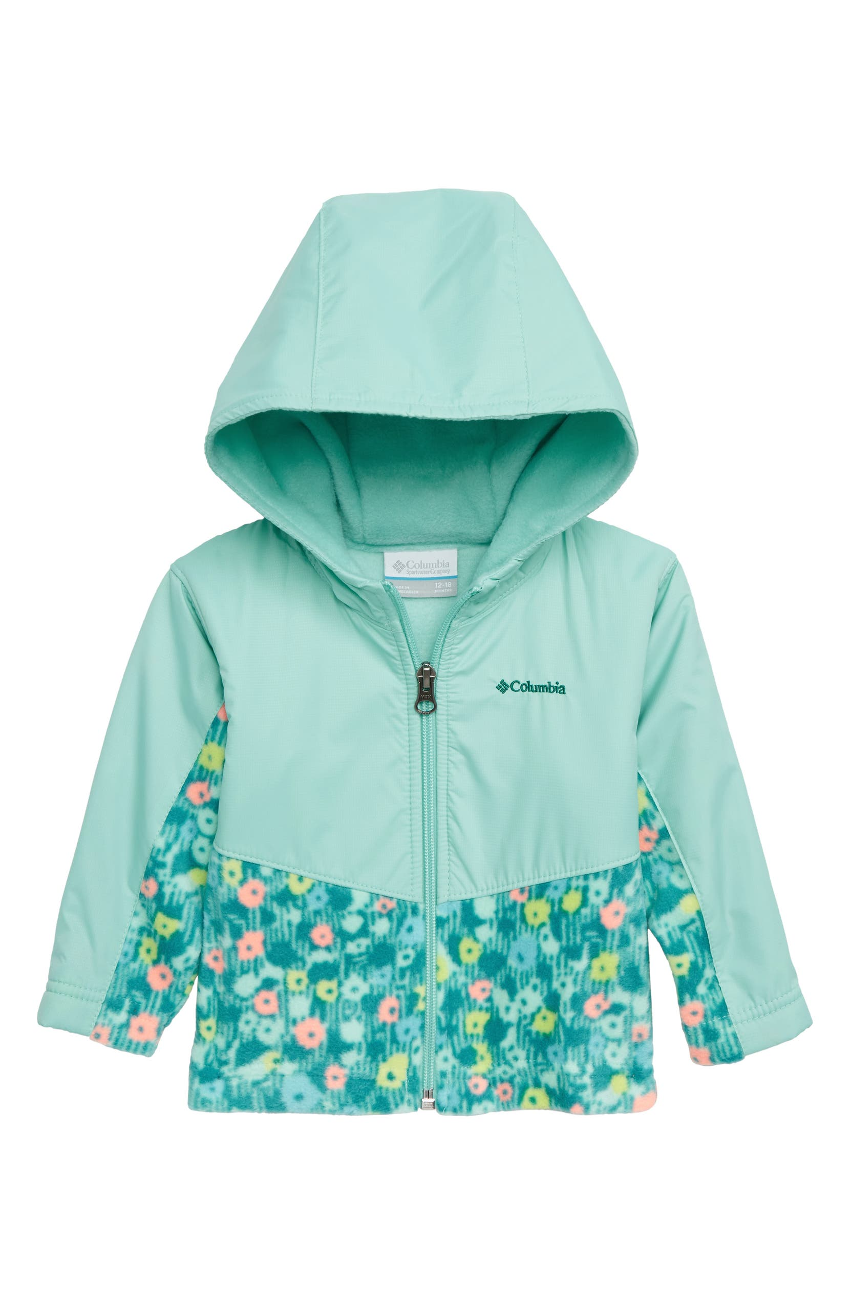 4810a07a2 Columbia Steens Mountain™ Overlay Water Resistant Hooded Jacket (Baby  Girls) | Nordstrom
