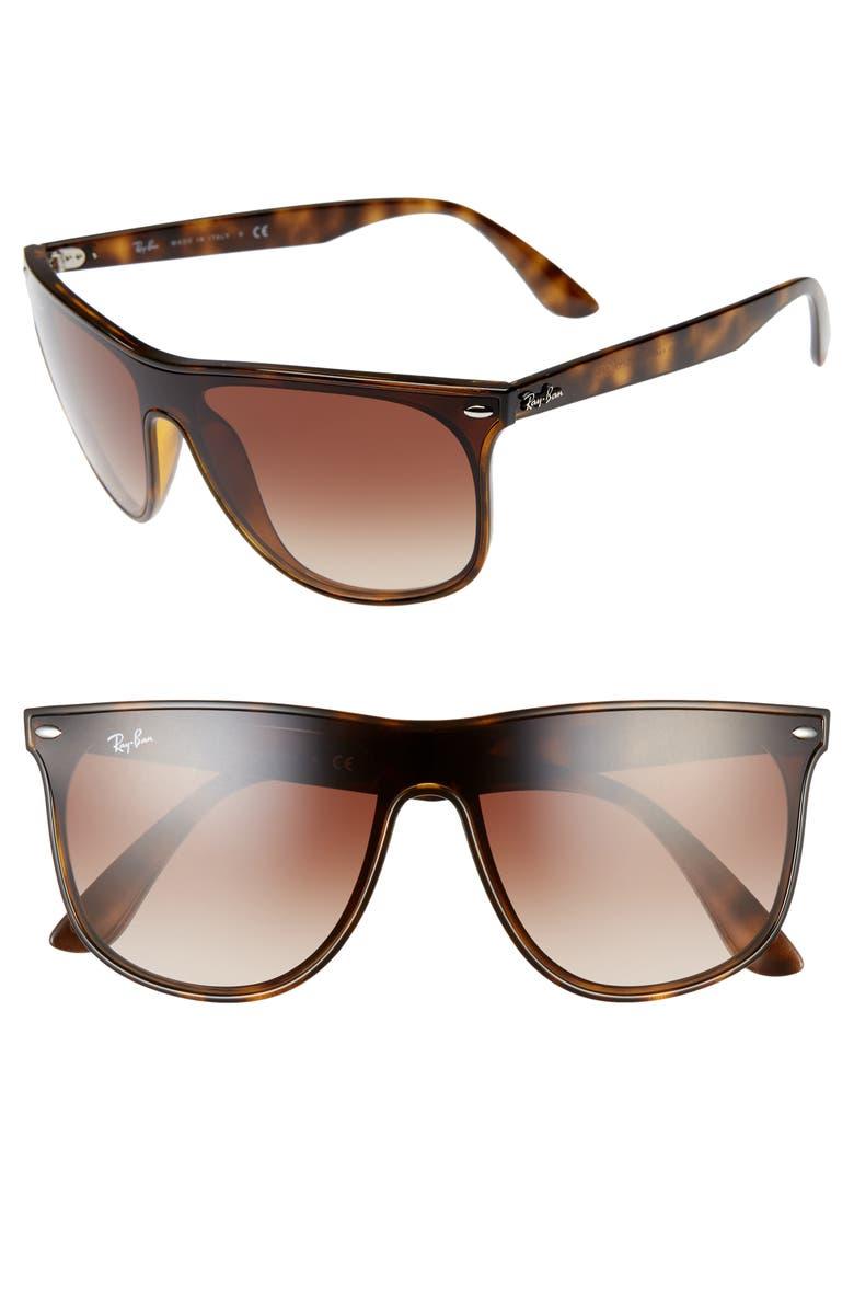 RAY-BAN Blaze 55mm Sunglasses, Main, color, HAVANA