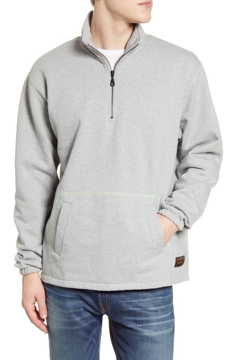 LEVI'S<SUP>®</SUP> Skate Quarter Zip Sweatshirt, Main, color, 020