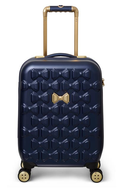 Ted Baker Suitcases SMALL BEAU 22-INCH BOW EMBOSSED FOUR-WHEEL TROLLEY SUITCASE