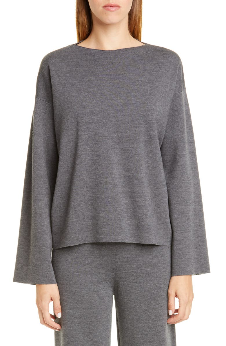 MANSUR GAVRIEL Milano Wool Sweater, Main, color, 020
