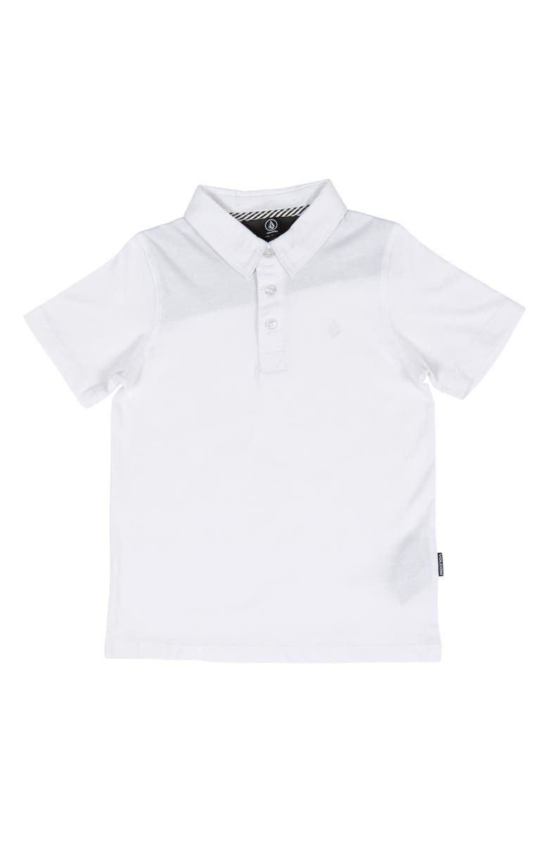 VOLCOM Wowzer Polo, Main, color, WHITE