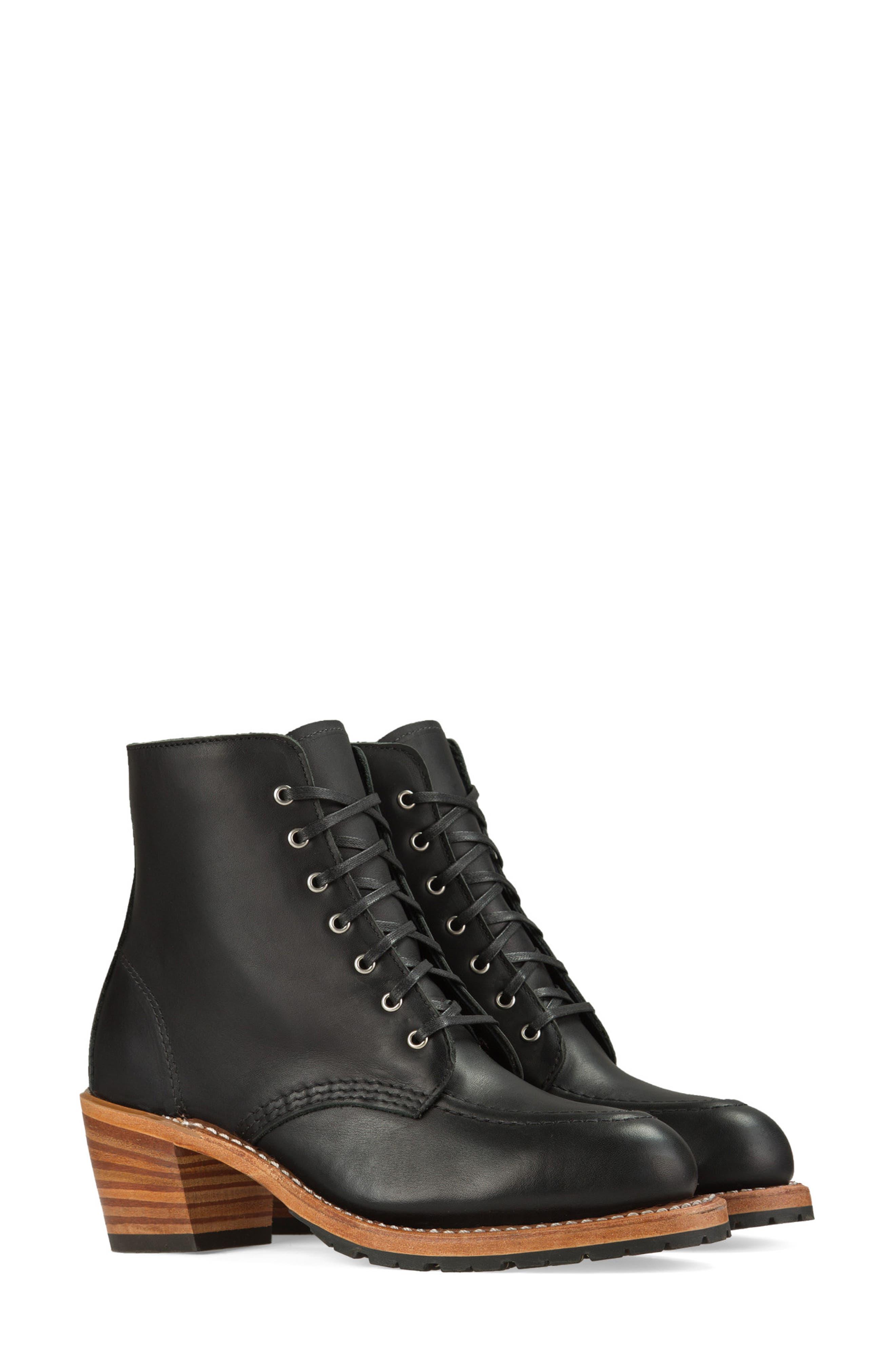 Clara Boot, Main, color, BLACK BOUNDARY LEATHER
