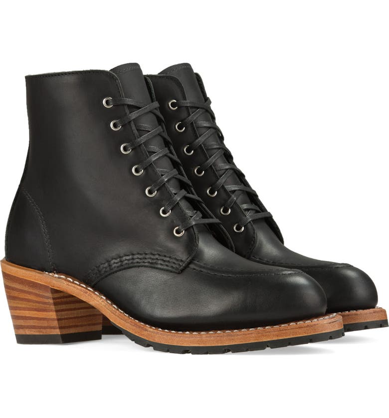 RED WING Clara Boot, Main, color, BLACK BOUNDARY LEATHER