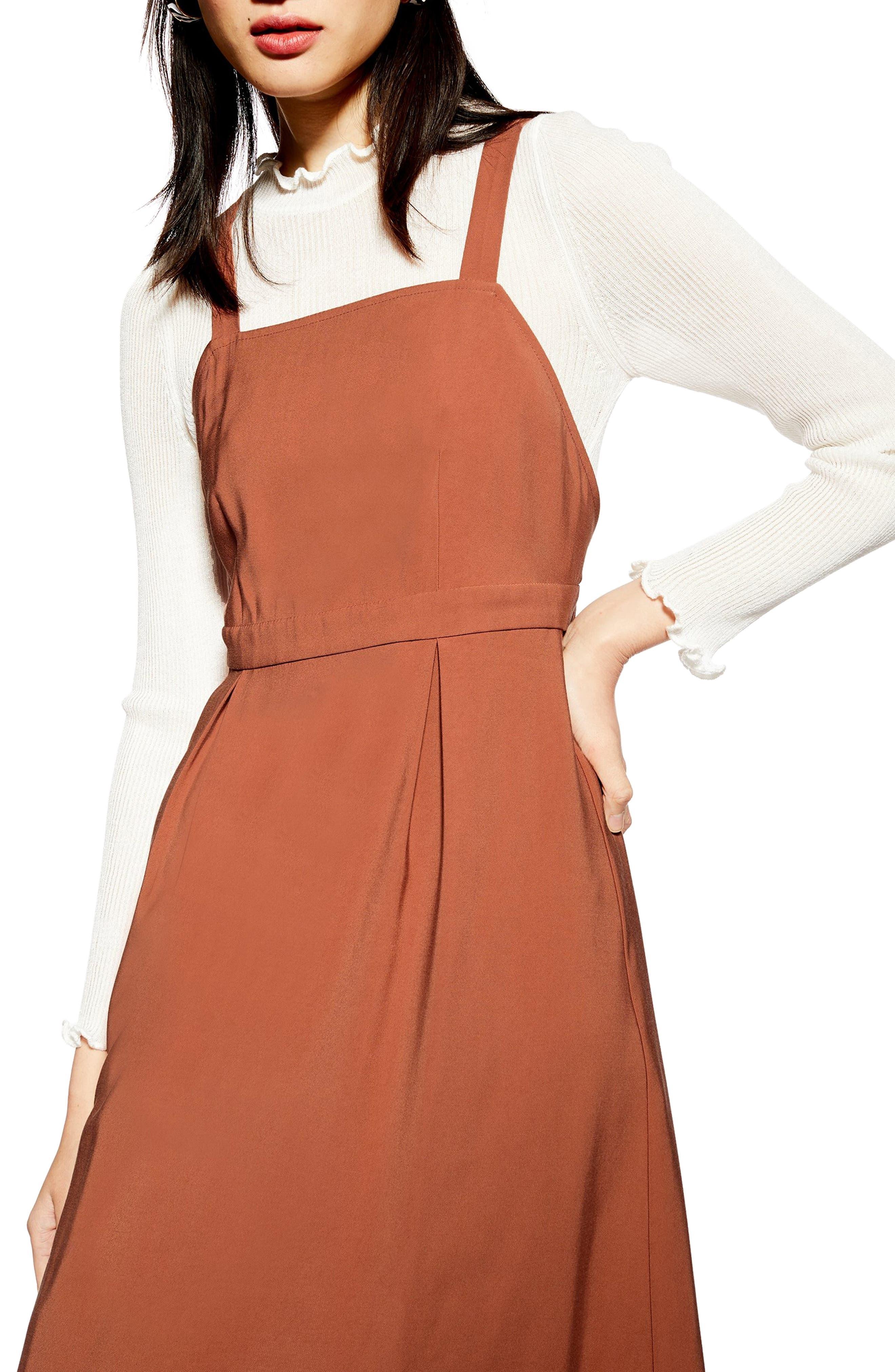 ,                             Tilda Pinafore Midi Dress,                             Alternate thumbnail 7, color,                             200